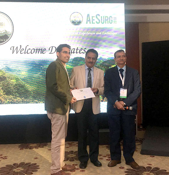 Awarded for presentation at National Aesthetic conference, Pune